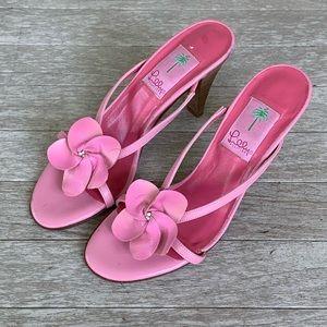 Lilly Pulitzer Pink Floral Pump heel sandals